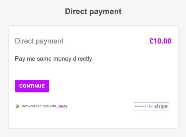 Hosted payment page